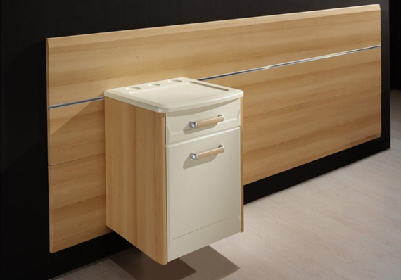Hospital bedside cabinets made to order
