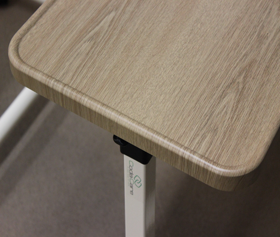 overbed table with thermoform top